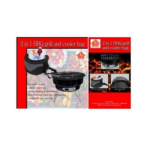 2.Barbacoa portatil desmontable + nevera 2en 1